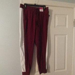 Burgundy Sweat pants Large